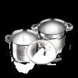 Blaumann rozsdamentes fazék tésztafőző betéttel és üvegfedővel 5 L (BL-3132)
