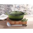 La Cuisine Green öntöttvas ovális lábas fedővel 29 cm-es (432027)