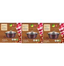 Happy Cooking Indukciós, Márvány bevonatú lábas készlet 20/24/28 cm-es (RS/B-1197/98/99)