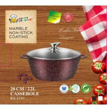 Happy Cooking Indukciós, Márvány bevonatú lábas 2,2 l-es (RS/B-1197)