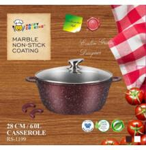 Happy Cooking Indukciós, Márvány bevonatú lábas 6 l-es (RS/B-1199)