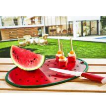 Műanyag vágódeszka görögdinnye alakú 24,5x34,5cm (DC-715)