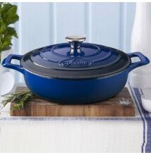 La Cuisine Blue öntöttvas alacsony lábas fedővel 28 cm-es (432019)