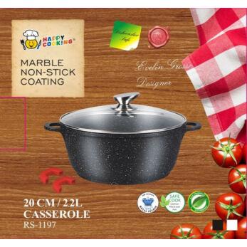 Happy Cooking Indukciós, Márvány bevonatú lábas 2,2 l-es (RS-1197)