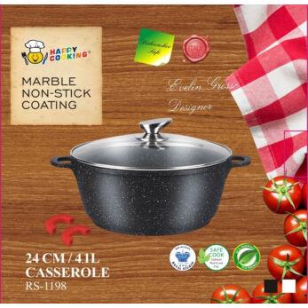 Happy Cooking Indukciós, Márvány bevonatú lábas 4,1 l-es (RS-1198)
