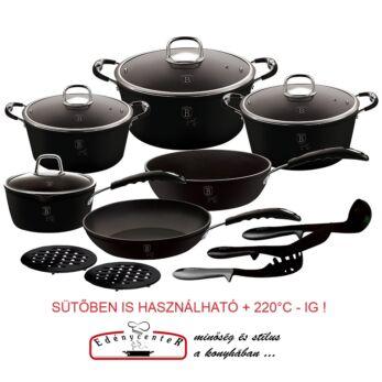 Berlinger Haus Black Professional 15 részes edénykészlet (BH-6129)
