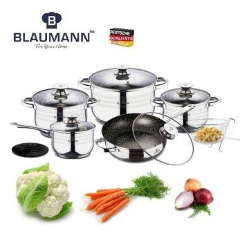 Blaumann Gourmet Line Jumbo 12 részes rozsdamentes acél edénykészlet (BL-3166)
