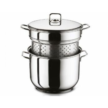 CEV Arian rozsdamentes fazék tésztafőző betéttel és fémfedővel 8 L (92099)