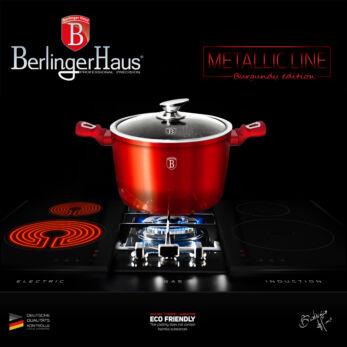 Berlinger Haus Burgundy Metallic Indukciós fazék 24 cm-es (BH-1269)