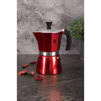 Berlinger Haus Burgundy Metallic Line 3 személyes kotyogós kávéfőző (BH-6387)