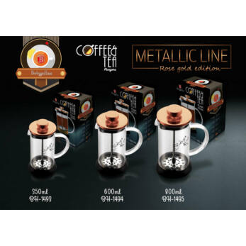 Berlinger Haus Rose Gold Dugattyús Kávé- Teafőző 800 ml-es (BH-1495)
