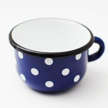 Zománcozott Kék Pöttyös kávéscsésze 0,25 l-es (RS-1203)