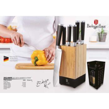 Berlinger Haus Black Royal Késkészlet bambusz állvánnyal (BH-2424)