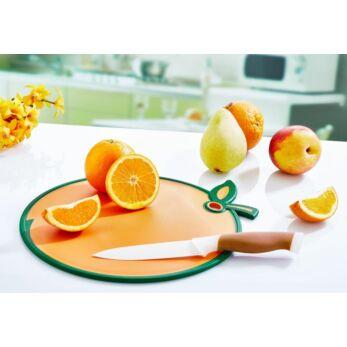 Műanyag vágódeszka narancs alakú 27,5x32,5cm (DC-720)