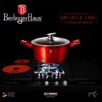Berlinger Haus Burgundy Metallic Indukciós lábas 28 cm-es (BH-1258)
