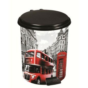London mintás pedálos szemetes 20 l (London-370-12)