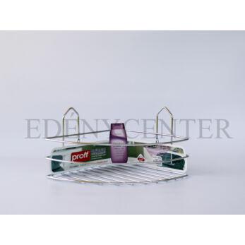 Krómozott acél sarokpolc 1 részes (2601903)