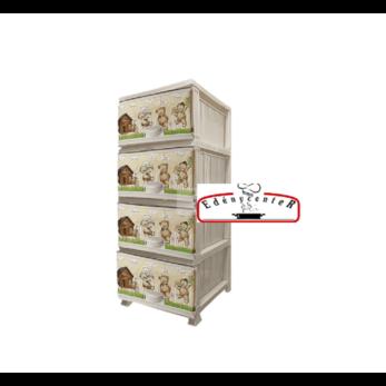 Maci mintás komód 4 fiókkal (Maci-868085)