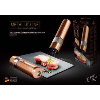 Berlinger Haus 2 db-os elektromos só-és borsőrlő szett Metallic Line Rose Gold Edition (BH-1905)