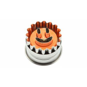 Smiley formájú rugós linzerkiszúró (10353)