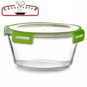 Hőálló Üveg Ételtároló szilikonos műanyag fedővel 2,3 l-es (RS-59026)